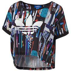 Blusa Adidas Women's Zx Flux Post Digital Crop Tee Multi B82333 #Blusa #Adidas