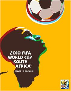 2010 FIFA World Cup Poster: Love the double meaning to the graphic.  It's the shape of Africa AND the players head.  LOVE