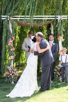 Father Giving Away Bride Outdoor Ceremony   White-Ranch-Wedding-Chico-Northern-California-Wedding-Photographer-TréCreative
