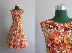 ON RESERVE Vintage Dress / 1950s Floral Sundress / by HolliePoint