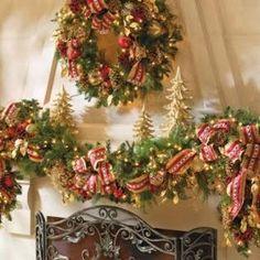 Decorar chimenea en Navidad