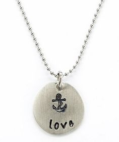 This Silver 'Love' Charm Pendant Necklace is perfect! #zulilyfinds
