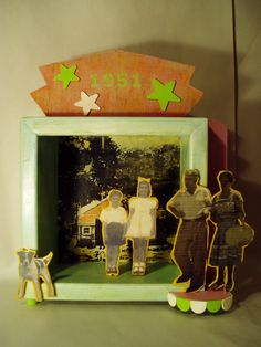 The 1951 Show - wood assemblage with collage