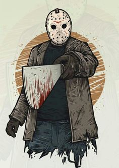 jason voorhees G A N E S H by timur khabirov, via Behance Jason Friday, Friday The 13th, Pennywise 1990, Jason Voorhees Drawing, Jason Viernes 13, Horror Artwork, Tattoo Hals, Tribute, Horror Icons
