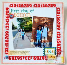 First day of School *Die Versions* - Scrapbook.com