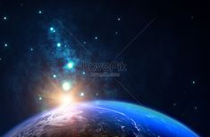 Outer space earth background Science and technology feel the background of the earth, the earth's surface background, the earth's background, the earth, the earth's light and background, the universe, dawn, starlight, space, explore the universe, outer space, and the blue earth background.