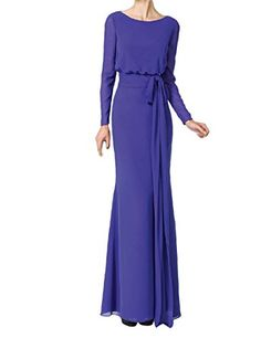 50ce5d67f330 LMBRIDAL Elegant Long Sleeves Mother of the Birde Dress Formal Evening  Purple 2