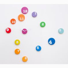 fun. wall. clock. kids. room. nursery. colorful. playful. interesting. different. modern.