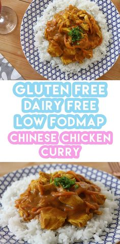 My gluten free Chinese chicken curry takeaway recipe is super easy to make at home. It's dairy free and low FODMAP too.