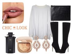 """""""chic look"""" by blonde-613 ❤ liked on Polyvore featuring Jimmy Choo, Status Anxiety, Charlotte Russe and Gucci"""