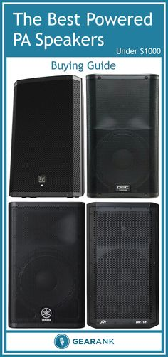 Here are the best ✅ Powered PA Speakers ✅ (also known as active PA speakers) as determined by their Gearank scores out of Home Studio Setup, Music Studio Room, Best Powered Speakers, Audio Engineer, Dj Equipment, Music Gifts, Loudspeaker, Guitars, Sleep