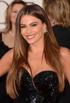 Sofia Vergara played up the glamour with high-wattage earrings