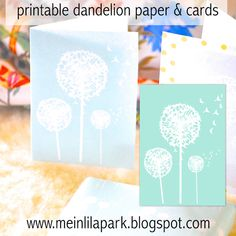 Free digital mint dandelion scrapbooking paper - ausdruckbares Geschenkpapier - freebie | MeinLilaPark – DIY printables and downloads