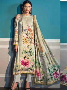 Buy Levisha Lamis Silk Collection With digital Print Salwar Suits 1003 Pakistani Designer Suits, Pakistani Suits, Indian Designer Wear, Pakistani Dresses Online, Pakistani Dresses Casual, Unique Dresses, Elegant Dresses, Kurta Designs, Blouse Designs