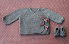 Lil Kimonos wrap & booties Knitting pattern by LiliCommeTout