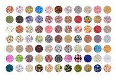 Planche numérique pour cabochon AA4 liberty 20mm : Images digitales pour bijoux par luxe