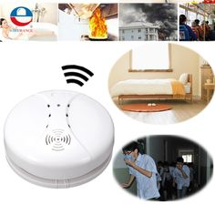 Alta Sensibilidad Más de 85dB CD21 Independiente Sensor de Humo Inalámbrico Detector de Incendios Alarma De Gas