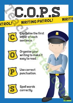 COPS Writing and Editing Poster and Checklist