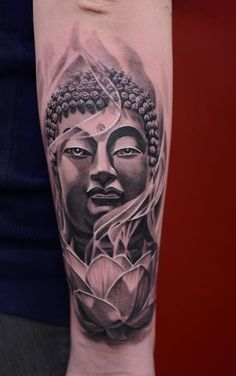 Buddha and louts tattoo