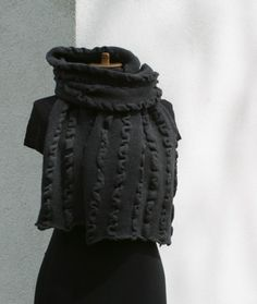 Huge Charcoal Shawl by deliriumkredens on Etsy, $68.00