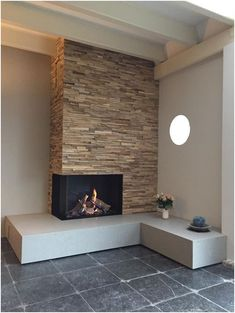 latest photos fireplace with bench ideas free Maestro gas card . latest photos fireplace with bench ideas free Maestro gas card … latest photos fireplace Bedroom Fireplace, Home Fireplace, Brick Fireplace, Living Room With Fireplace, Fireplace Design, Corner Fireplaces, Living Room Designs, Living Spaces, Minimalist Home