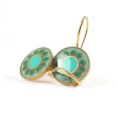 Dangle Earrings  Turquoise earrings mint Cyan  by SigalitAlcalai, $46.00