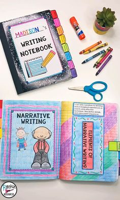 Step-by-Step Writing Program with Interactive Notebooks Writing Lessons, Teaching Writing, Writing Skills, Teaching Grammar, Library Lessons, Reading Skills, Writing Programs, Writing Notebook, English Writing