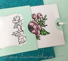 Card making process video #7 - Stampin Up Birthday Blooms Magic Slider Card