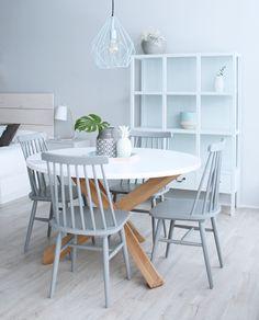 Home Room Design, Dining Room Design, Dinning Table, Dining Room Chairs, Dinning Room Colors, Furniture Makeover, Furniture Decor, Durham Furniture, Dining Room Inspiration