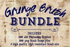 Check out Grunge Photoshop Brushes Bundle by Robyn Gough Designs on Creative Market