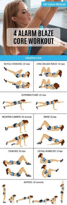 Fat Burning 21 Minutes a Day - If you're a fan of challenging yourself AND you want a core that gets attention, this 4 Alarm Blaze Core workout combines the best core building exercises. - Using this 21-Minute Method, You CAN Eat Carbs, Enjoy Your Favorite Foods, and STILL Burn Away A Bit Of Belly Fat Each and Every Day