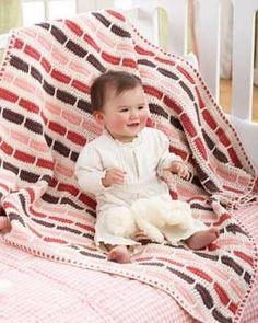 Ravelry: Crochet Stripe Blanket pattern by Bernat Design Studio Striped Crochet Blanket, Baby Afghan Crochet, Baby Afghans, Crochet Blankets, Cute Crochet, Crochet Hooks, Knit Crochet, Ravelry Crochet, Crochet Stitches