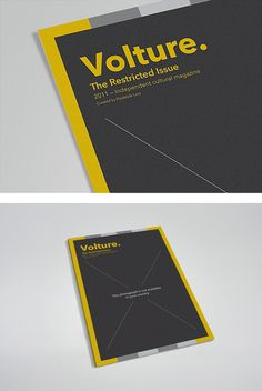 Beautiful work by Danish studio Flydende Lava. The studio was responsible for the identity, art direction and creative typography for Volture, an independent magazine from… Graphic Design Layouts, Layout Design, Design Art, Creative Typography, Branding, Grid Design, Editorial Design, Lava, Design Inspiration