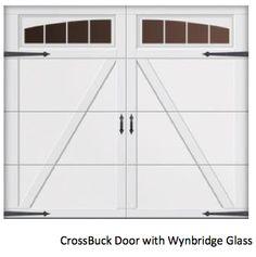 CLOVER CREEK: Overhead Doors CrossBuck Door with Wynbridge Glass www.windsonglife.com