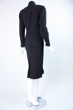 1970's Jean Muir Black Crepe Ensemble | From a collection of rare vintage suits, outfits and ensembles at https://www.1stdibs.com/fashion/clothing/suits-outfits-ensembles/