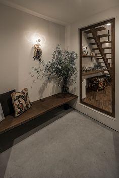 Home Room Design, House Design, Japanese Modern House, Deco Studio, Bathroom Design Inspiration, House Entrance, Entry Way Design, Inspired Homes, Architect Design