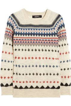 Isabel Marant | Moonsfield intarsia wool-blend sweater | NET-A-PORTER.COM