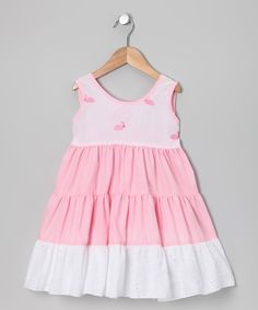Pink Bunny Tiered Dress - Infant, Toddler & Girls