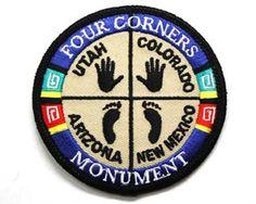 Utah Four Corners Souvenir Patch | eBay