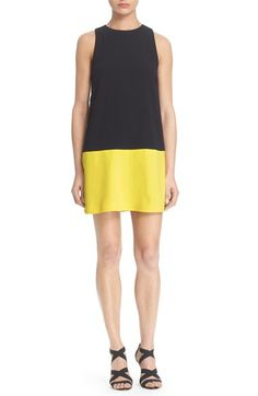 Alice + Olivia 'Dorma' Colorblock Shift Dress available at #Nordstrom