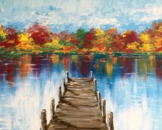 Join us for a Paint Nite event Tue Nov 2017 at 7053 Street North Oakdale , MN. Purchase your tickets online to reserve a fun night out! Easy Canvas Painting, Autumn Painting, Autumn Art, Painting & Drawing, Canvas Art, Painting Lessons, Arte Floral, Pictures To Paint, Acrylic Art