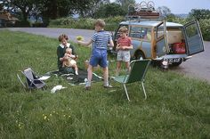 family picnic, 1964. isle of wight, morris woody.