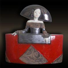 "Red - woman - ""menina"" ( Velásquez) - PePeart - ceramic Ceramic Figures, Clay Figures, Sculptures Céramiques, Sculpture Art, Ceramic Design, Ceramic Art, Paper Dolls, Art Dolls, Plaster Art"