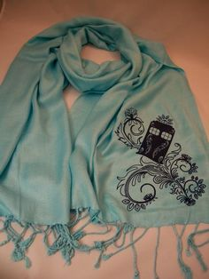 I found 'Henna Police Box Sky Blue Pashmina Scarf by Geekiana on Etsy' on Wish, check it out!