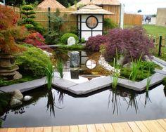 Superior Gemütlicher Chinesischer Garten Mit Steine Brücke Und Kiosk