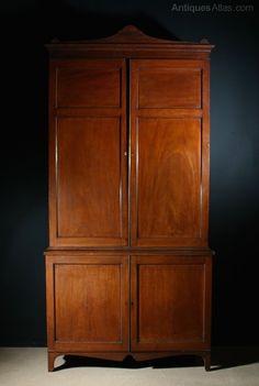 Georgian Mahogany Bookcase - Antiques Atlas