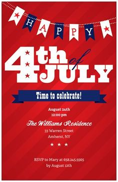 32 Best 4th Of July Party Invitations Images 4th Of July Party