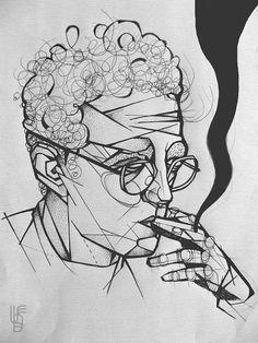 Roberto Bolaño Writer - Sketch