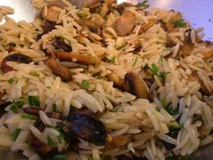 Asiago Herb Orzo with Sauteed Mushrooms | Amy Casey
