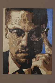 MALCOM X 36 X 48 ACRYLIC ARTIST; LELAND SHARP MUST CONTACT IF INTERESTED IN PURCHASING THIS PAINTING. Price will be not posted